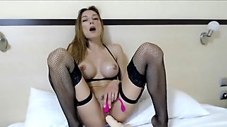 Goddes of masturbation with her favourite toy