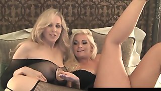 Busty Blonde Bombshells Bobbi Eden & Julia Ann Fuck On Cam!